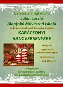 Karácsonyi szóló plakát 2018