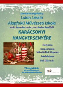Karácsonyi együttes plakát 2018 NKA