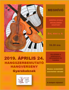 Hangszerbemutató plakát 2019.04.24.