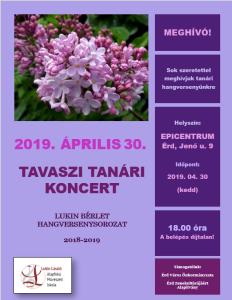 Tavaszi tanári plakát 2019
